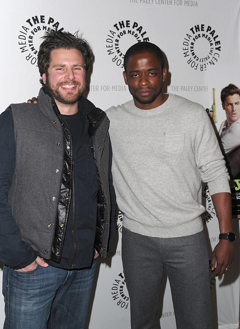 """James Roday and Dule Hill at the Paley Center for Media Presents """"Psych"""" and """"Twin Peaks"""" Reunion in California."""