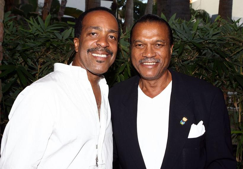 """Robert Gossett and Billy Dee Williams at the celebration of """"Love Conquers All"""" jewelry collection."""