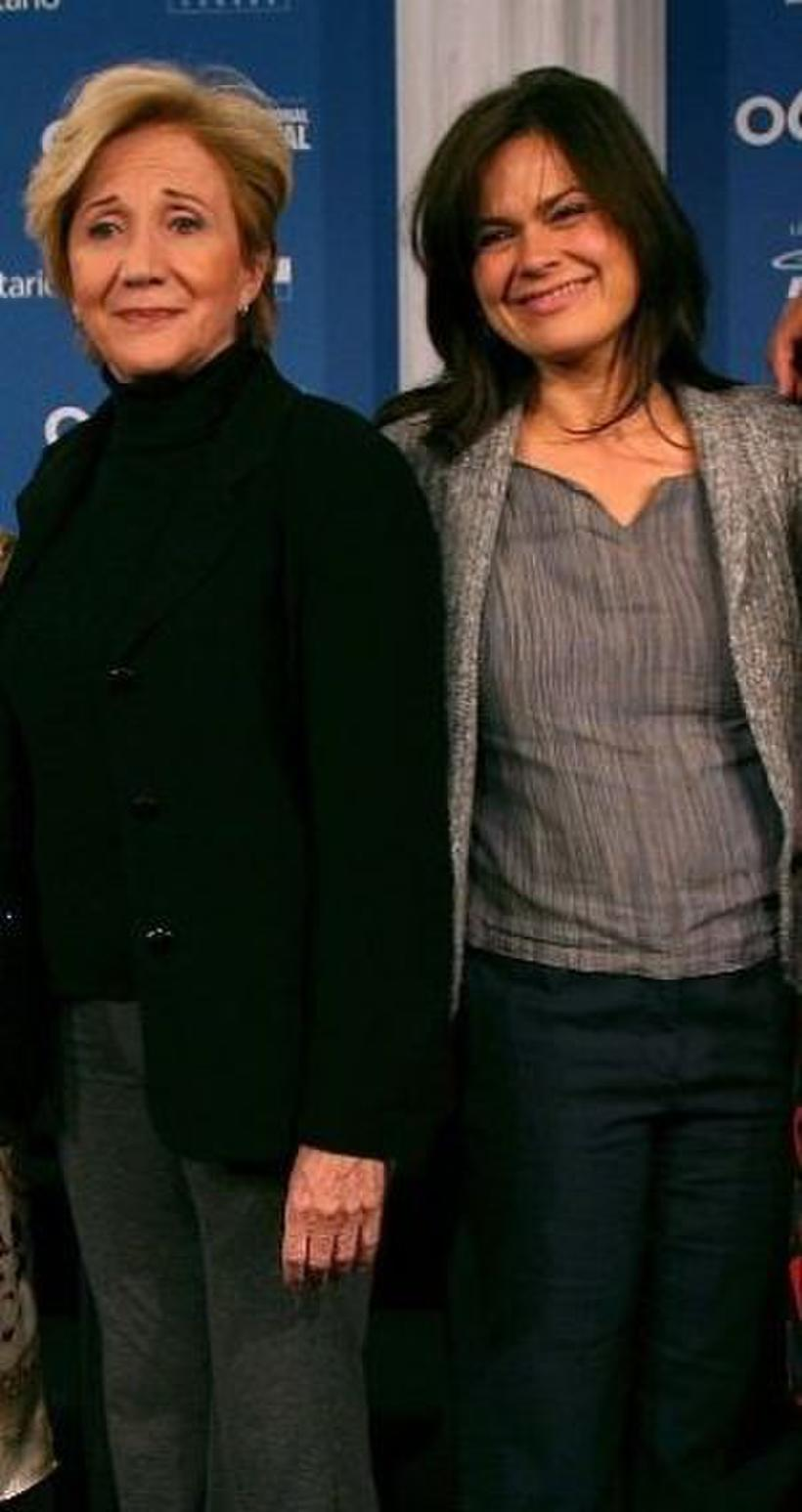 """Olympia Dukakis and Kristen Thomson at the press conference of """"Away From Her"""" during the Toronto International Film Festival."""