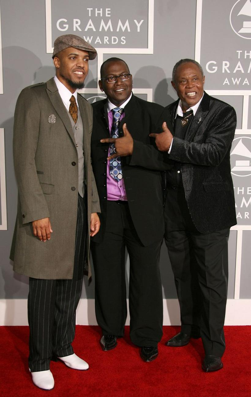 Van Hunt, producer Randy Jackson and Sam Moore at the Lili Claire Foundation 10th Annual benefit dinner and Auction.