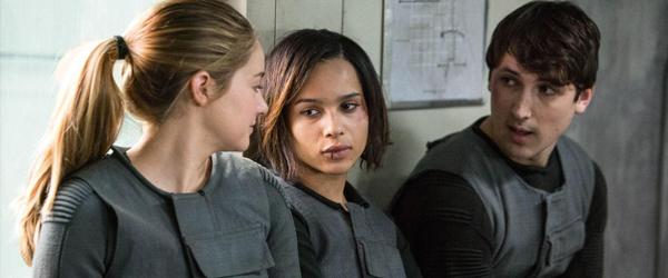 Shailene Woodley, Zoe Kravitz and Ben Lloyd-Hughes in Divergent