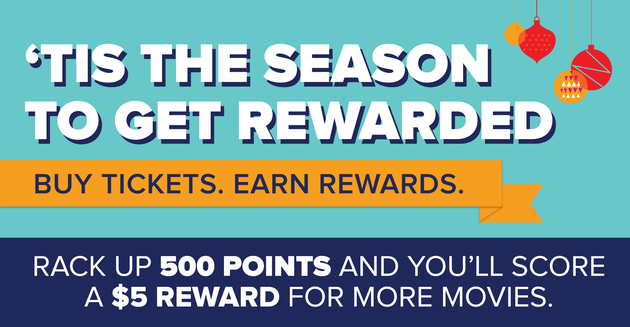 Each ticket gets you 125 points and 500 points earns you $5.