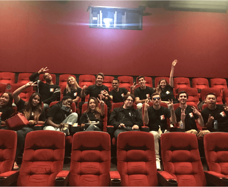 Team outing at the movies