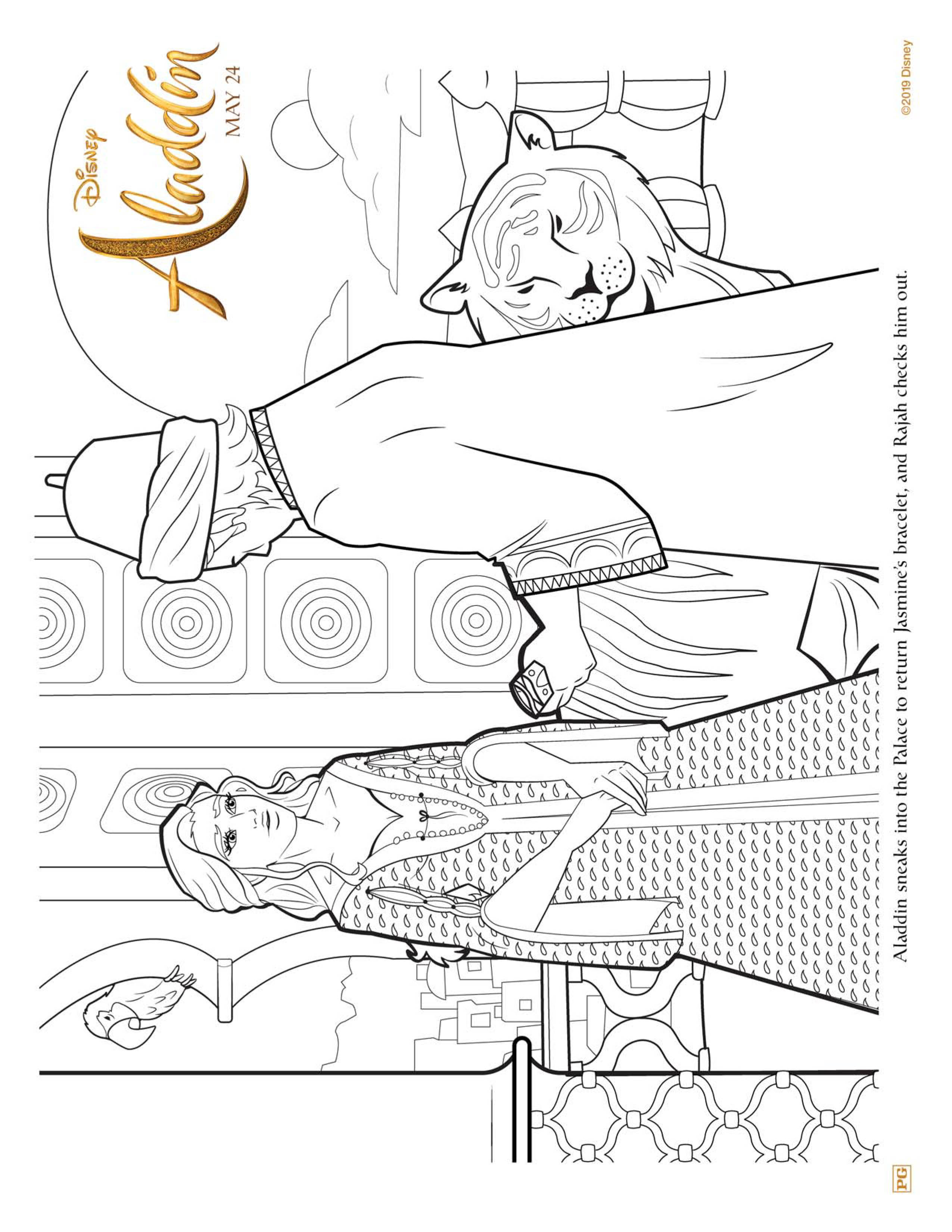 Aladdin Movie Coloring Pages - GetColoringPages.com | 3300x2550