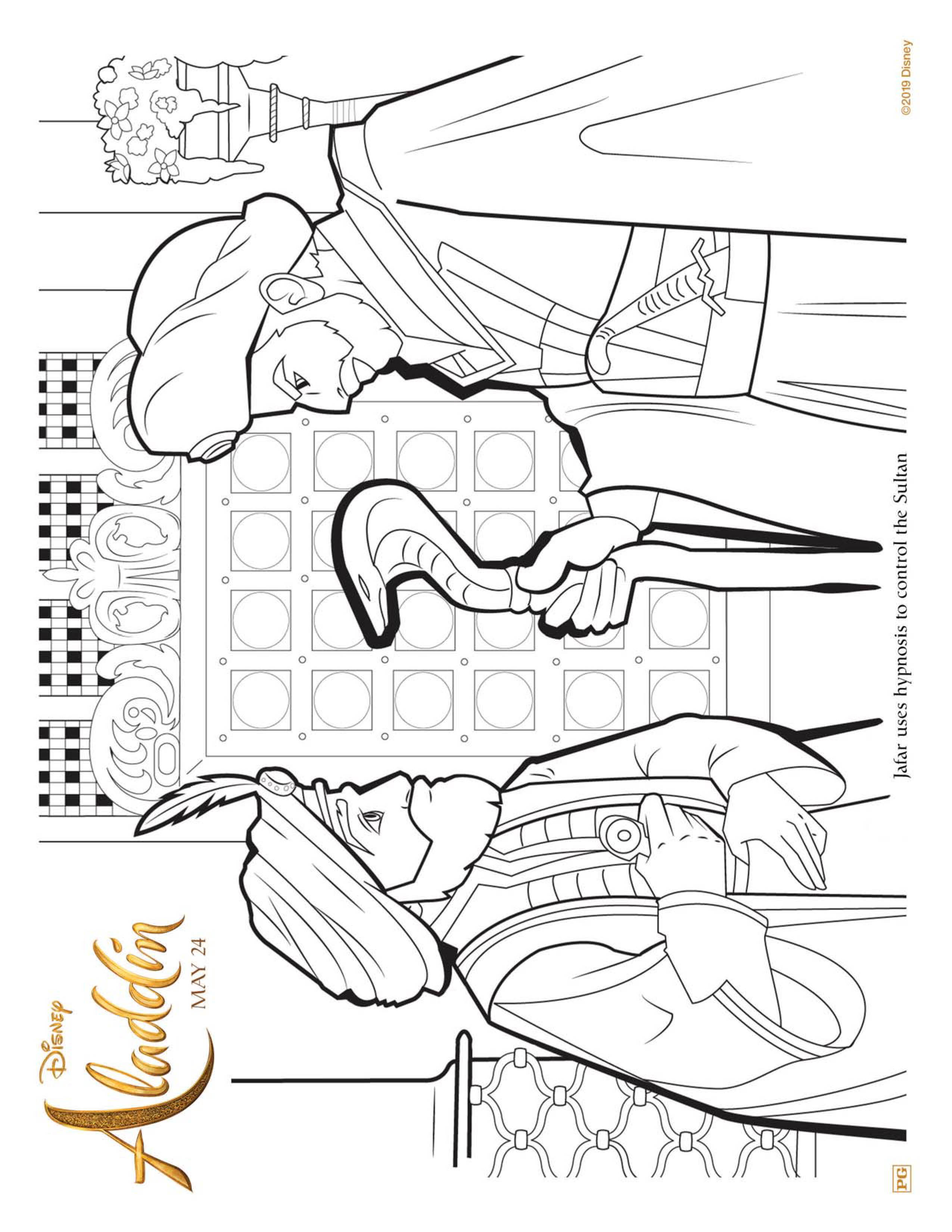 Aladdin Coloring Pages and Activity Sheets | Crazy Adventures in ... | 3300x2550