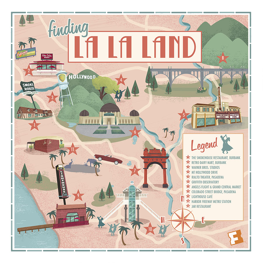 Land Location Map Mapped: See the L.A. Locations Where 'La La Land' Was Filmed  Land Location Map