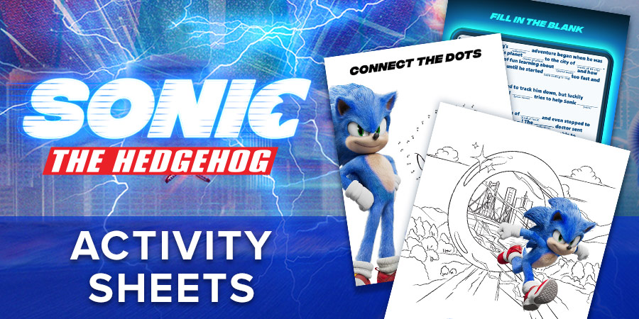 Check Out These Sonic The Hedgehog Activity Sheets Fandango