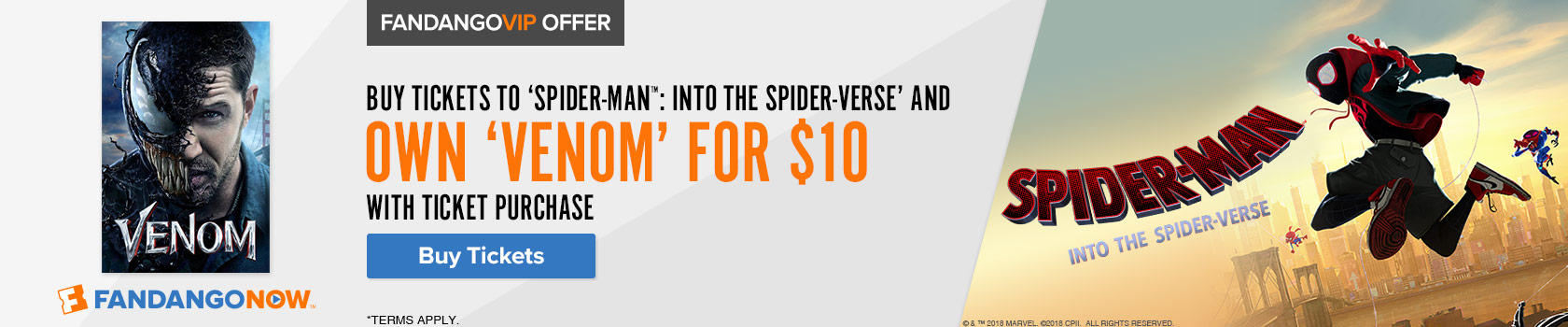 Fandango 'Spider-Man: Into the Spider-Verse' Gift with Purchase