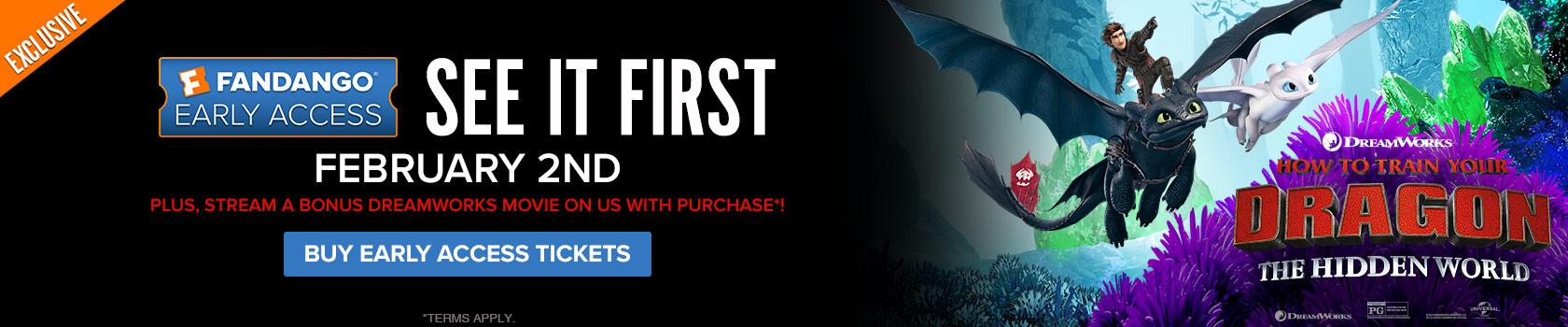 Fandango 'How to Train Your Dragon: The Hidden World' Early Access Screening