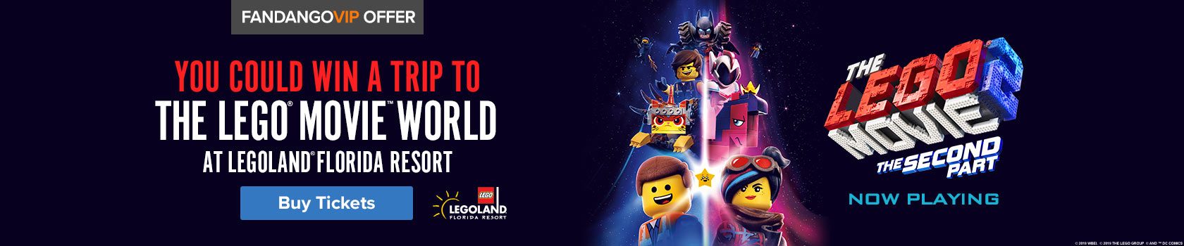 Fandango 'The Lego Movie 2: The Second Part' Sweepstakes