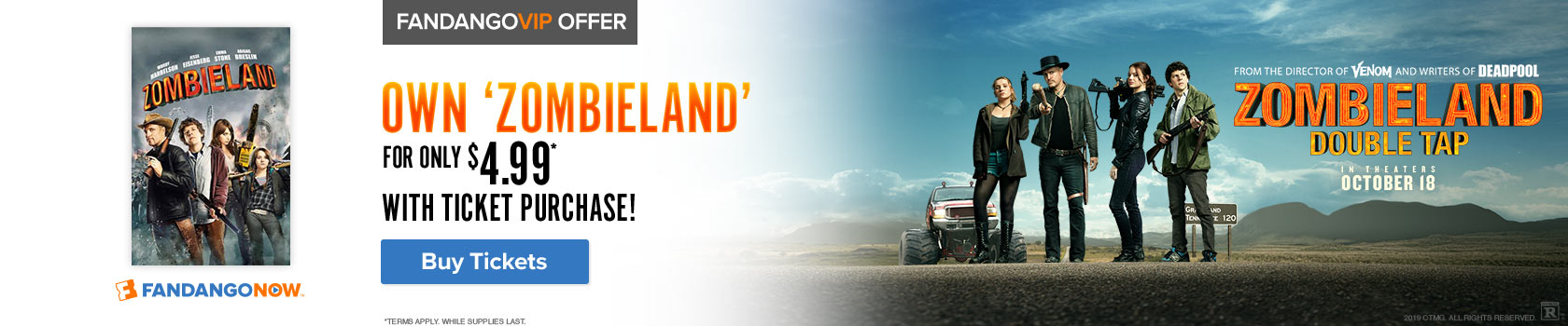 Fandango 'Zombieland: Double Tap' Gift with Purchase