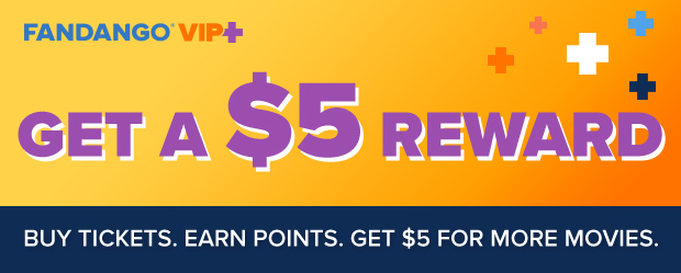 Earn 125 points on every ticket you buy. Rack up 500 points to score a $5 reward for more movies. Plus, link your theater account at checkout and get the best of both.