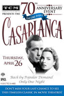 TCM Presents Casablanca 70th Anniversary Event Encore