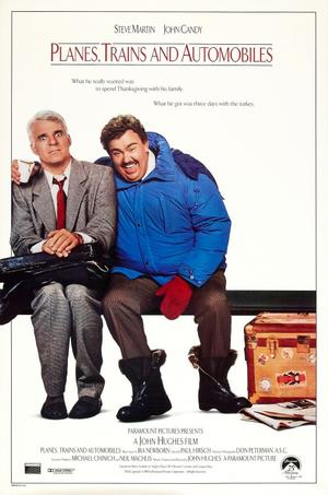 """Poster art for """"Planes, Trains and Automobiles."""""""