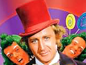 "A scene from ""Willy Wonka and the Chocolate Factory."""