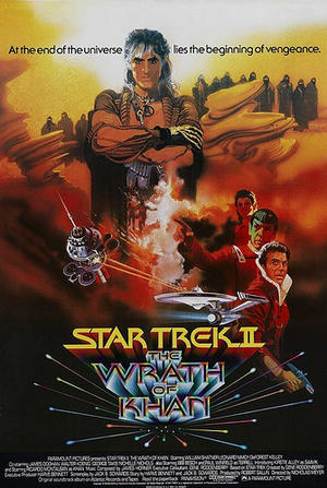 "Poster art for ""Star Trek II: The Wrath of Khan."""