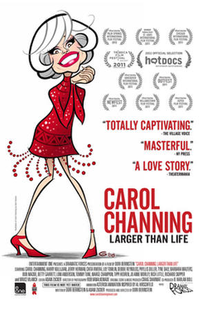 "Poster art from ""Carol Channing: Larger Than Life."""