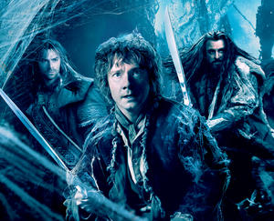 "A scene from ""The Hobbit: The Desolation of Smaug."""