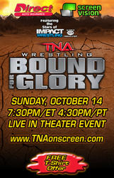 TNA Bound for Glory 2012 showtimes and tickets