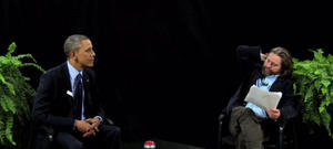 Watch: President Obama and Zach Galifianakis Hilariously Trade Insults on 'Between Two Ferns'