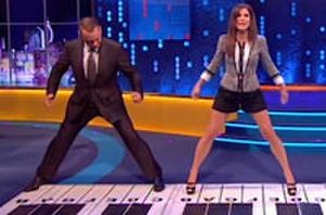 Fun Find: Tom Hanks and Sandra Bullock Reenact Piano Scene from 'Big'