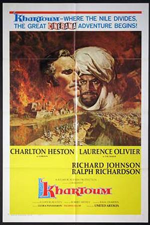 "Poster art for ""Khartoum."""