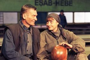 "Krzysztof Kiersznowski and Katharina Thalbach in ""Strike."""