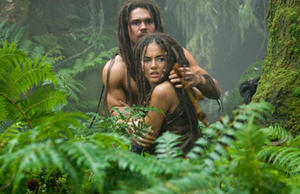 "Steven Strait as D'Leh and Camilla Belle as Evolet in ""10,000 B.C."""