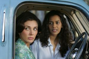 "Lisa Ray as Miriam and Sheetal Sheth as Amina in ""The World Unseen."""
