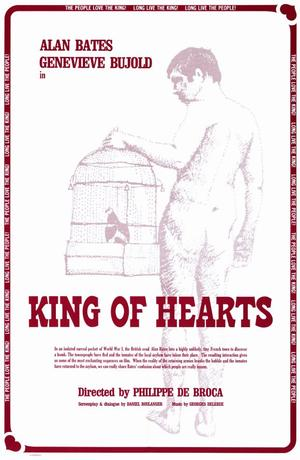"""Poster art for """"King of Hearts."""""""