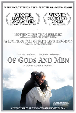 """Poster art for """"Of Gods and Men."""""""