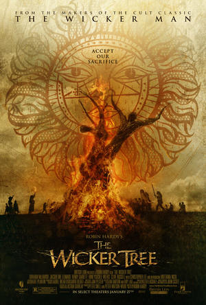 "Poster art for ""The Wicker Tree."""