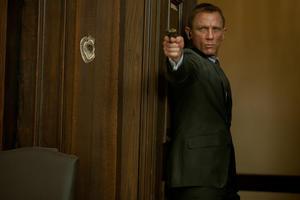 "Daniel Craig as James Bond in ""Skyfall."""