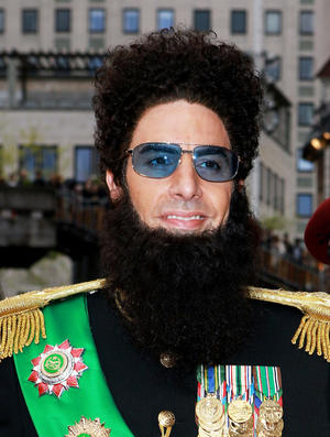 """Sacha Baron Cohen at the world premiere of """"The Dictator"""" in London."""