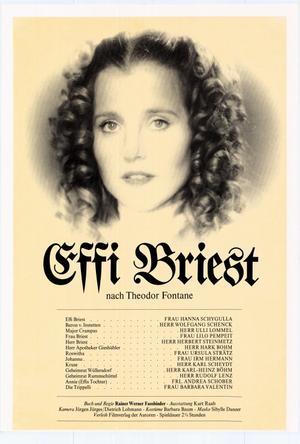 "Poster art for ""Effi Briest."""