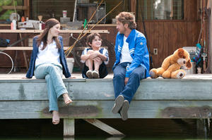 """Jessica Biel, Noah Lomax and Gerard Butler in """"Playing for Keeps."""""""