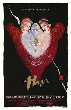 """Poster art for """"The Hunger."""""""
