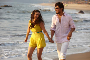 "Aditi Rao Hydari as Roshni and Randeep Hooda as Vikram in ""Murder 3."""