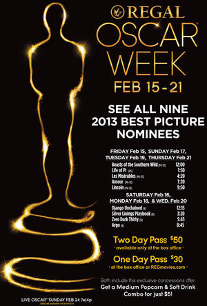 "Poster art for ""Oscar Regal Week."""
