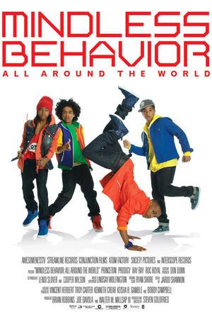 "Poster art for ""Mindless Behavior: All Around the World."""