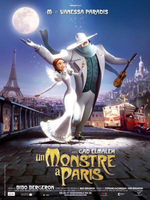 "Poster art for ""A Monster in Paris."""