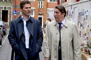 "Eric Bana as Martin Rose and Ciaran Hinds as Devlin in ""Closed Circuit."""
