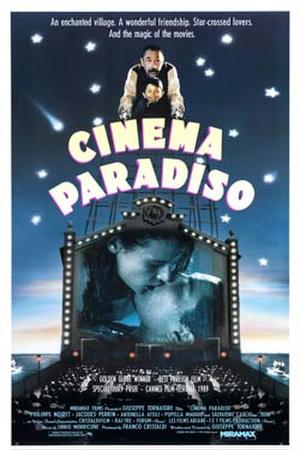 "Poster art for ""Cinema Paradiso."""