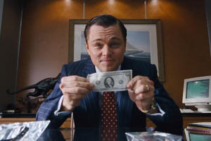 'The Wolf of Wall Street' Hits Home; Watch Leo in an Exclusive Clip from the Extras