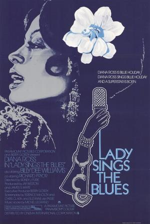 "Poster art for ""Lady Sings the Blues."""