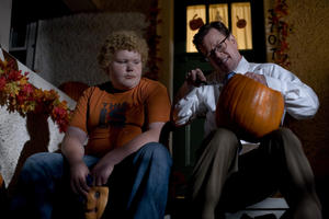 "Brett Kelly and Dylan Baker in ""Trick 'r Treat."""