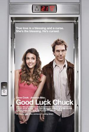 "Poster art for ""Good Luck Chuck."""