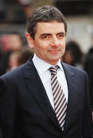 "Actor Rowan Atkinson at the London premiere of ""Mr. Bean's Holiday."""