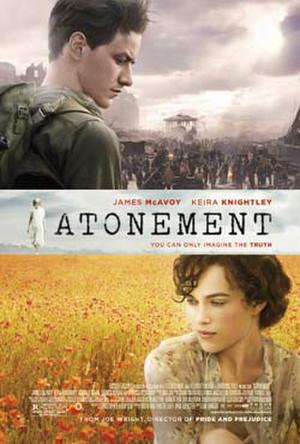 "Poster art for ""Atonement."""