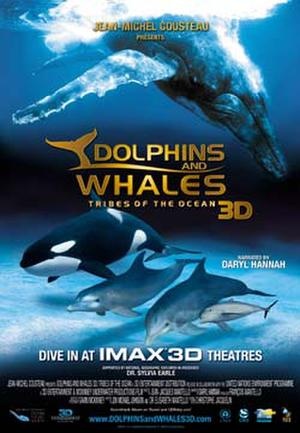 """Poster art for """"Dolphins and Whales 3D: Tribes of the Ocean."""""""